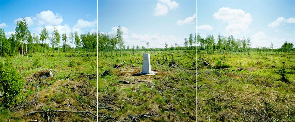 <p><strong>Jan Eerala: <em>Peräkylän seita</em></strong><br /> 2003, 3 x 90 x 115 cm, alumiinille (komposiitille) pohjustettu pigmenttituloste.<br /> Kuva: Jan Eerala.</p>